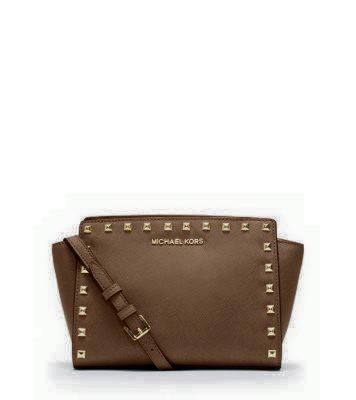 SELMA MEDIUM STUDDED LEATHER MESSENGER