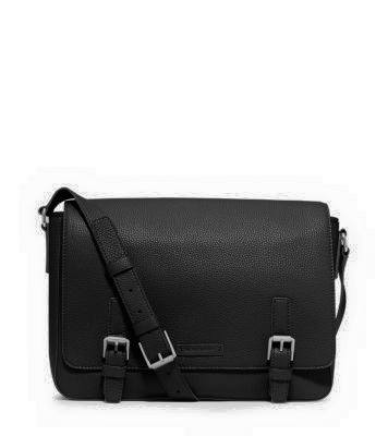 MICHAEL KORS MEN BRYANT PEBBLED-LEATHER MESSENGER