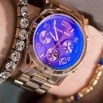 Runway Iridescent Dial Rose Gold-tone Ladies Watch