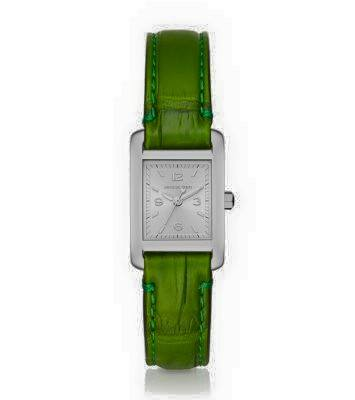 TAYLOR SILVER-TONE AND CROCODILE WATCH