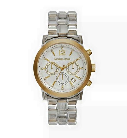 AUDRINA CLEAR ACETATE WATCH