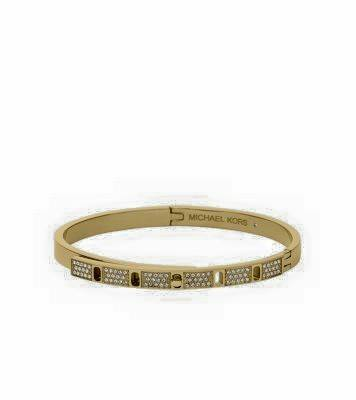 PAVÉ GOLD-TONE BANGLE