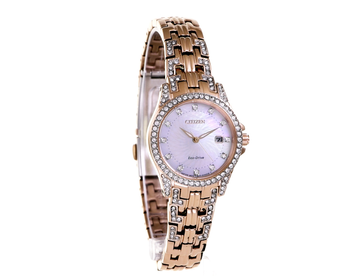 Silhouette Crystal Eco-Drive Ladies Watch