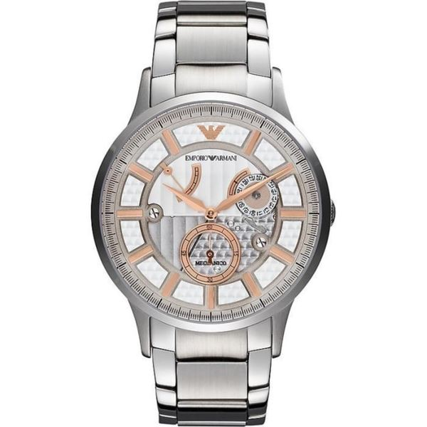 Emporio Armani Meccanico Stainless Steel Mens Watch AR4668
