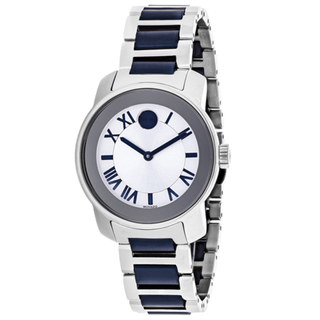 Movado Bold Silver Dial Two-tone Ladies Watch 3600354