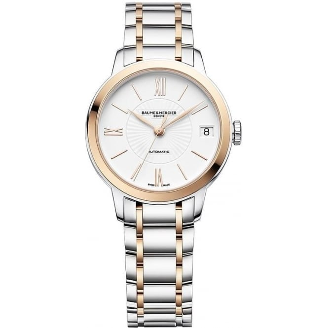 BAUME & MERCIER CLASSIMA AUTOMATIC STEEL & ROSE GOLD