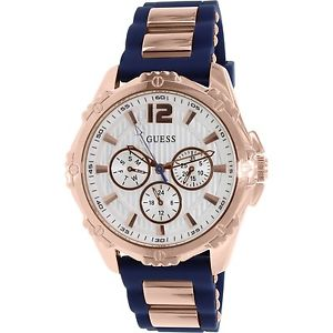 Guess Women's U0325L8 Rose Gold Silicone Quartz Fashion Watch