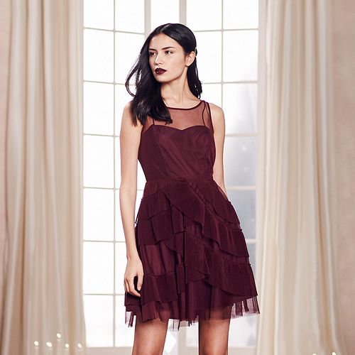 LC Lauren Conrad Runway Collection Tiered Fit & Flare Dress - Women's